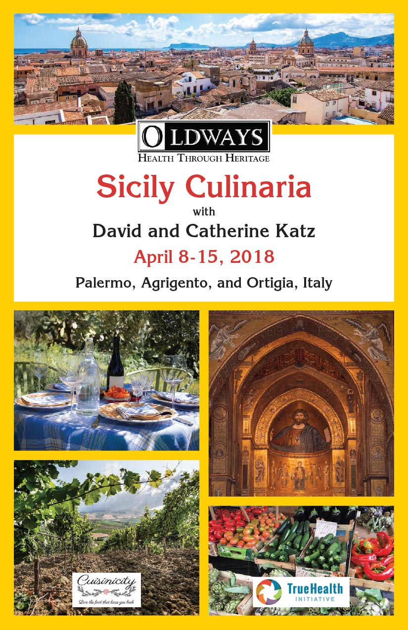Sicily Culinaria Trip 4-2018 with David and Catherine Katz: Itinerary Cover Sheet